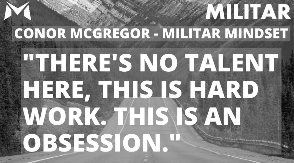Conor McGregor- MILITAR MINDSET