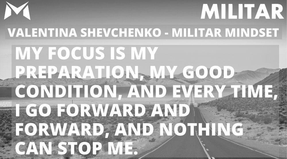 Valentina Shevchenko- MILITAR MINDSET