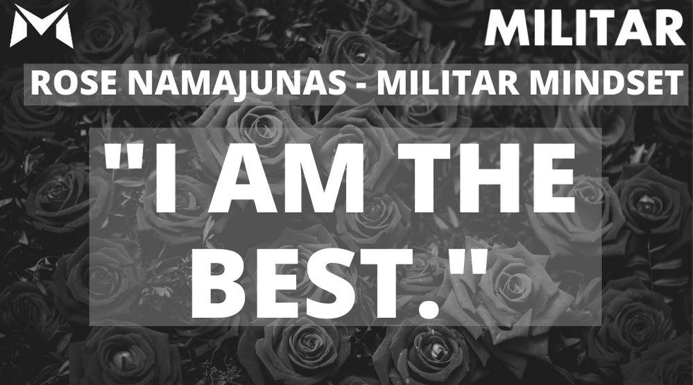 Rose Namajunas- MILITAR MINDSET