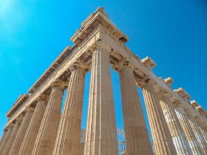 a picture of the acropolis of Athens